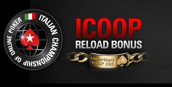 Su PokerStars.it arriva l'ICOOP Reload Bonus: ricarica il tuo conto e ricevi fino a 100€!