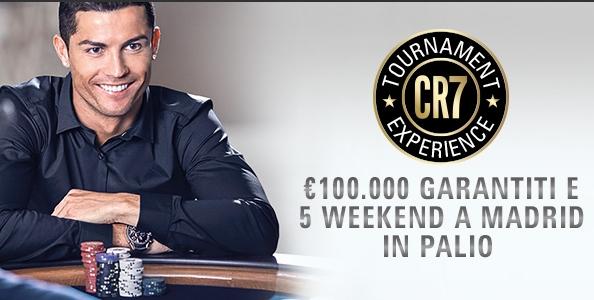 Su PokerStars.it arriva la CR7 Tournament Experience: 100.000€ GTD e cinque ticket per volare a Madrid!