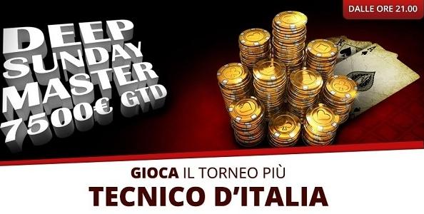 Su PokerYes arriva il Deep Sunday Master: ogni domenica un premio garantito di 7500€!