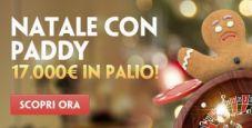 Natale con Paddy Power: fino al 23 dicembre in palio un montepremi di 17.000€ con i giochi di casino!