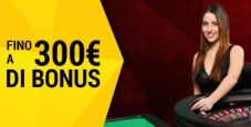 Tris di bonus su bwin live casinò: vinci fino a 300€!