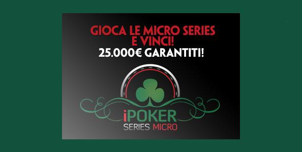 Su Paddy Power arrivano le iPoker Micro Series: in palio un montepremi complessivo di 25.000€!