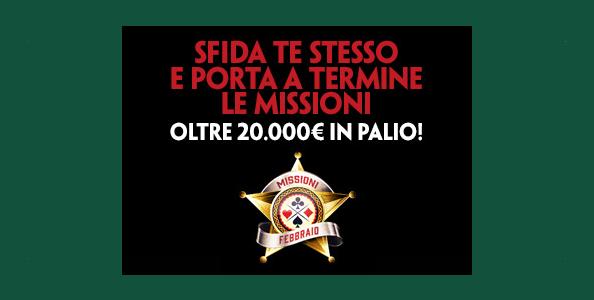 Gioca le Missioni di febbraio su Paddy Power: in palio più di 20.000€ GTD in token e bonus cash!