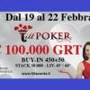 Tilt Poker Cup X: dal 16 al 22 febbraio al casinò di Sanremo con un montepremi di 100.000€ GTD!