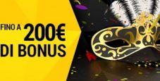 Il carnevale di bwin casinò: fino a 200€ di bonus in 4 giorni!