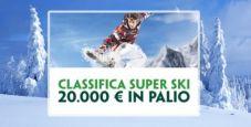 PADDY POWER: 20000 € in palio con la classifica Super Ski