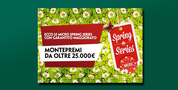 Micro Spring Series su Paddy Power: tornei low buy-in per oltre 25.000 € di montepremi garantito!