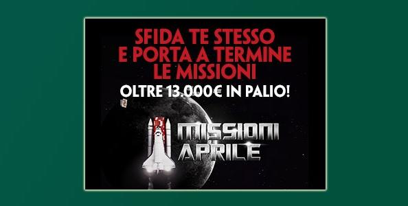 Missioni di aprile su Paddy Power: in palio oltre 13.000€ in token e bonus cash!