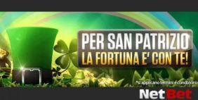 Festeggia San Patrizio su NetBet, ricevi fino a 30€ bonus in regalo!
