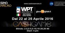 Sanremo come Las Vegas: per il WPTN fin dal pomeriggio cash game dal 2€/5€ al 20€/40€!