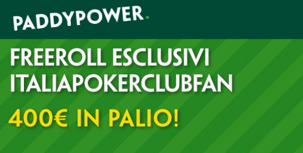 Freeroll 'ItaliaPokerClubFan' su Paddy Power: in palio 400€!