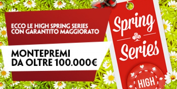 High Spring Series su PaddyPower: 16 eventi per oltre 100.000€ garantiti!