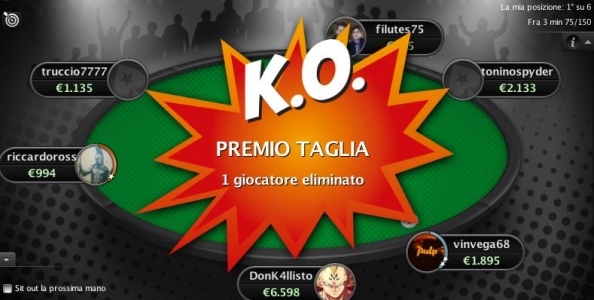 PokerStars lancia i sit'n'go Turbo KnockOut!