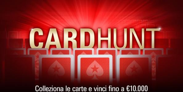 Card Hunt raddoppia: completa il puzzle su PokerStars e vinci fino a 10.000€ al giorno!