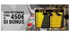 Vinci fino a 450€ a settimana giocando al casinò bwin!