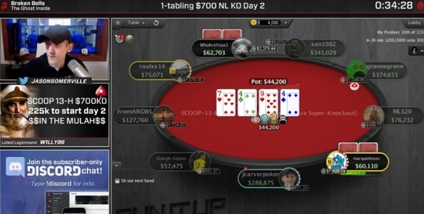 Jason Somerville centra un final table SCOOP con oltre 30.000 viewers su Twitch