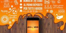 20€ bonus per i nuovi iscritti a Gioco Digitale!