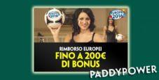 Gioca nel Casinò Live di Paddy Power: se perdi ricevi un rimborso del 20% fino a un massimo di 200€!