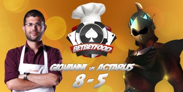 Bet Bet Food: Giovanni batte Actaru5 al tavolo verde, la sfida si sposta ai fornelli!