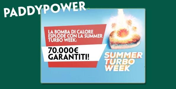 Su Paddy Power arriva la Summer Turbo Week: 16 tornei veloci per 70.000€ garantiti!