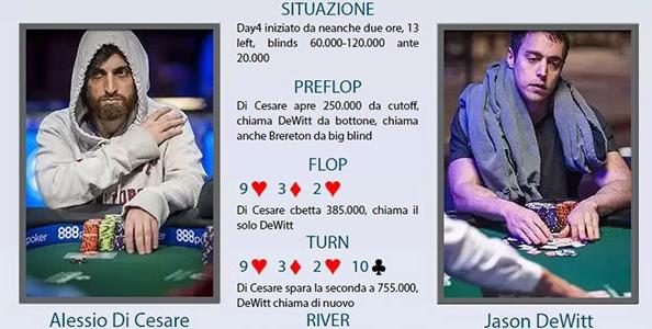 Chiamare con Re alta 13 left al Millionaire Maker WSOP: il thinking process di Alessio Di Cesare