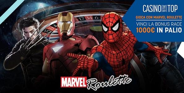 """""""Casinò to the top"""" su Snai: 1000€ in palio alla Marvel Roulette!"""