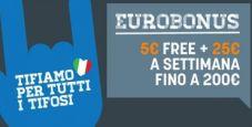 5€ IN REGALO e fino a 200€ rimborsati: per tutto luglio su Snai è tempo di Eurobonus!