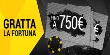 """Su bwin """"Gratta la fortuna"""": ogni giorno puoi vincere fino a 750€ !"""