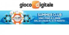 Su Gioco Digitale è tempo di 'Summer Club': fino al 21 agosto vinci un bonus poker al giorno!