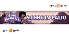 """Classifiche vip """"Jimi Hendrix"""" su Gioco Digitale: in palio 5.000€!"""