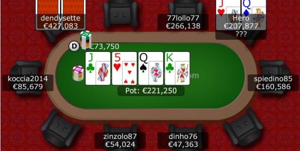 Punti di vista MTT – Doppia coppia sulla second barrel del chipleader 7 left al 30€ 'The Hot'