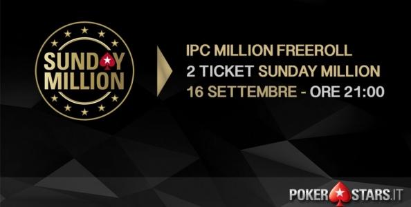 Gioca GRATIS il Sunday Million Progressive KO: 2 ticket in palio nel nostro freeroll esclusivo!