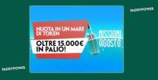 Missioni di agosto su Paddy Power: in palio oltre 15.000€ in token!
