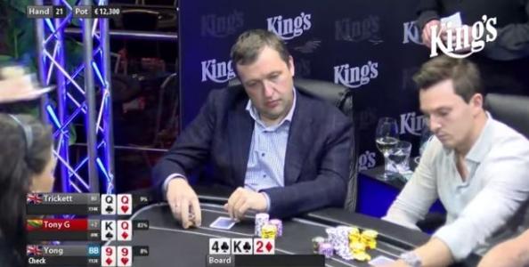 Tony G mattatore al Celebrity Cash King's: bulla il tavolo e devolve i 109.000€ di profit in beneficenza