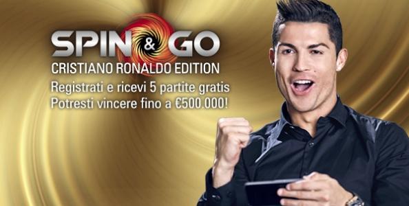 Spin&Go Cristiano Ronaldo Edition su PokerStars.it: vinci fino a 500.000€ senza obbligo di deposito!