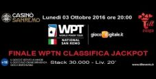 WPTN Sanremo: 40 ticket garantiti al torneo Classifica Jackpot!