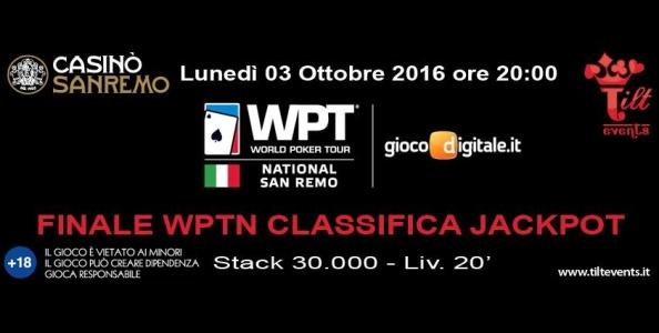 WPTN Sanremo: 40 ticket garantiti al torneo Classifica Jackpot!