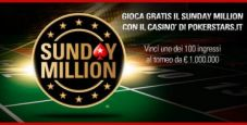 Gioca gratis il Sunday Million: 100 ticket in palio al Casinò di PokerStars.it!