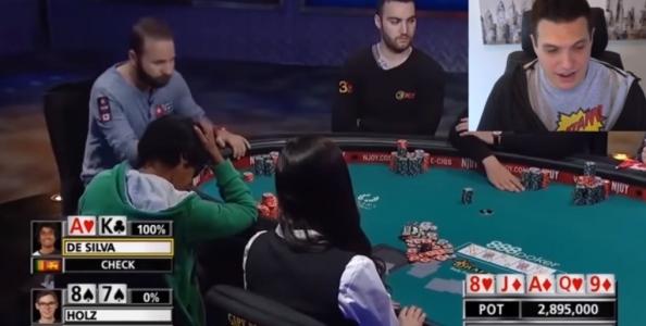 Doug Polk analizza il difficile spot tra Fedor Holz e Upeshka De Silva al Main Event WSOP