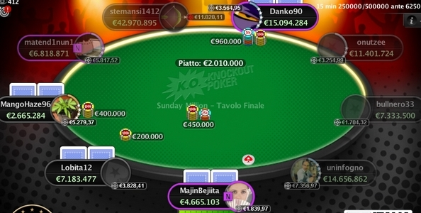 'stemansi1412' campione del Sunday Million Progressive Knock-Out per oltre €110.000!