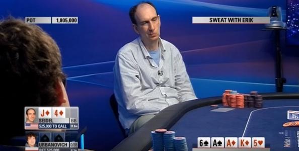 VIDEO – Erik Seidel chiama e vince con 'jack carta alta' in heads-up, Urbanovich ci resta male