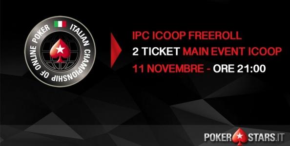 Gioca GRATIS il Main Event ICOOP: 2 ticket in palio nel nostro freeroll esclusivo!