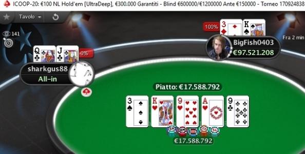 ICOOP – 'BigFish0403' vince 49.367€ nell'UltraDeep superando Pasquale Gregorio