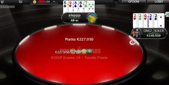 ICOOP PokerStars – Andrea Carini è campione 5-Card Draw, 'Visdiabuli' vince l'8-Game!