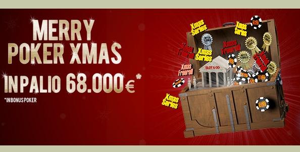 Merry Poker Xmas: su Lottomatica.it Poker 68.000€ in palio!!!