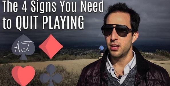 Qual è il momento giusto per quittare una sessione di poker? Ecco i consigli di Alec Torelli!