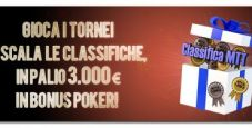 Xmas Mtt Leaderboards: su Lottomatica.it 3.000€ in palio!