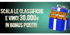 30.000€ in palio nelle Xmas Sit&Go Leaderboards di Lottomatica.it Poker!