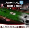 'Admiral Series of Poker': piazza una scommessa sportiva da 5€ e gioca il freeroll da 3.000€ garantiti!