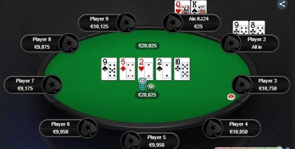 Meloni bluffa tre street… Guerra chiama! Il discusso spot giocato al primo livello del The Big 30€ di PokerStars